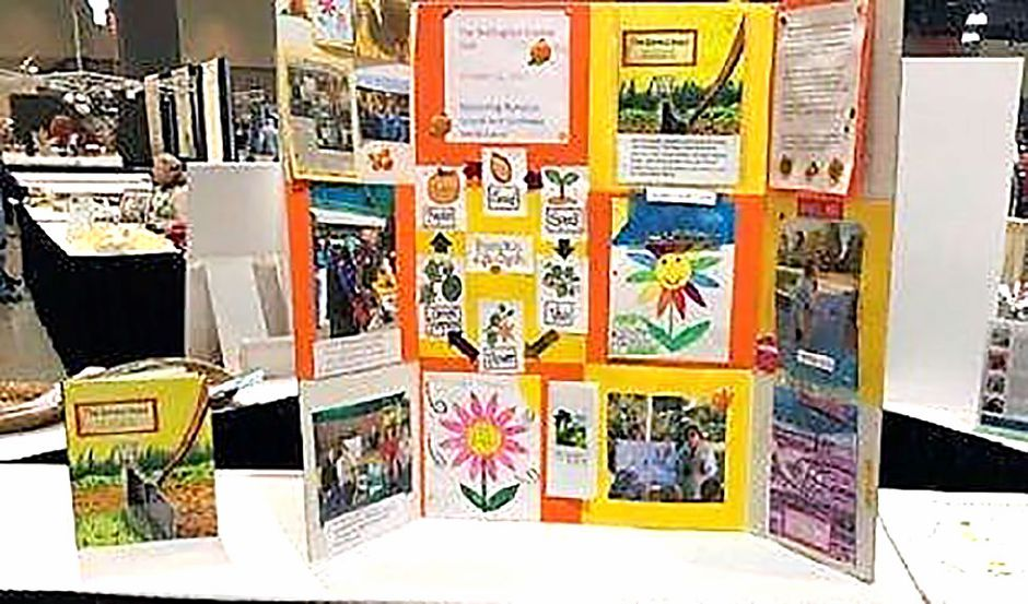 The Saved Seed Project poster of the Youth Committee which earned a blue ribbon.