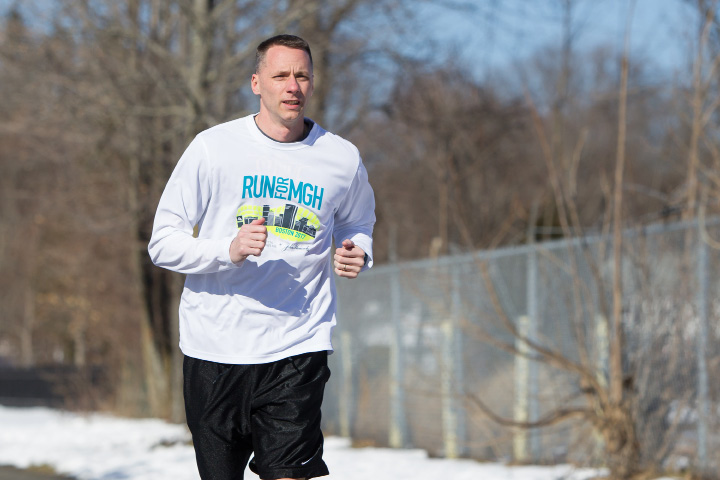 Southington's Mike Garry runs the Southington's Farmington Canal' Heritage Trail in preparation for next month's Boston Marathon.  | Justin Weekes, Special to the Record-Journal