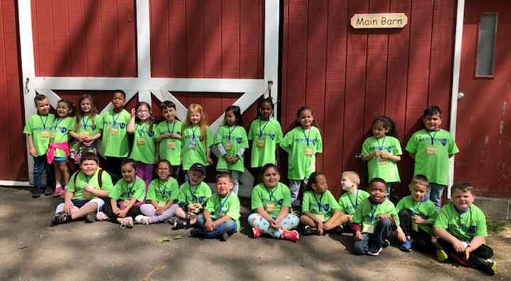 Mrs Ganter's Kindergarteners from Nathan Hale school recently visited the farm at Indian Rock in Bristol.