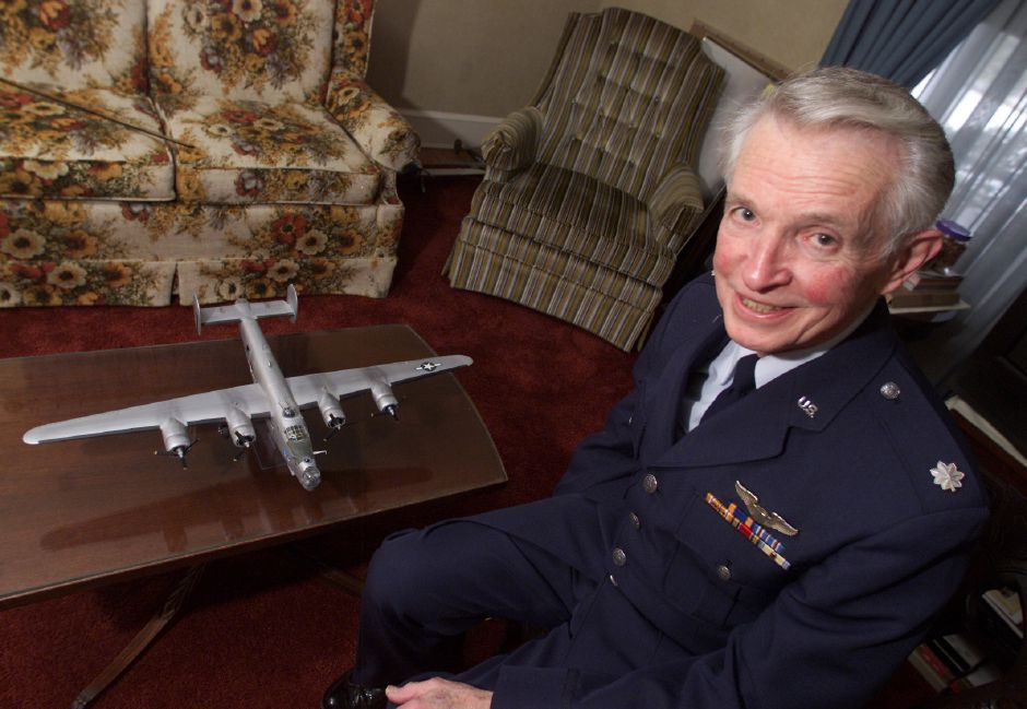 Retired Air Force officer Walter Hushak of Southington piloted a B-24 Liberator in WWll .