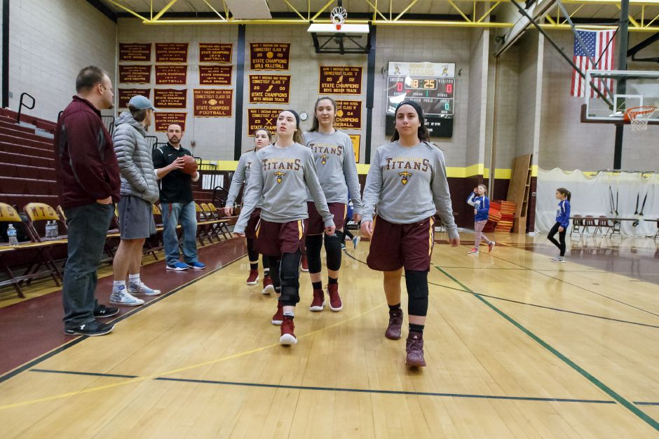 The No. 12 Sheehan girls basketball team faces a familiar opponent in tonight's Class M state quarterfinals: No. 20 Career. The SCC Housatonic rivals shared the division title after splitting regular-season contests. Justin Weekes, Special to the Record-Journal
