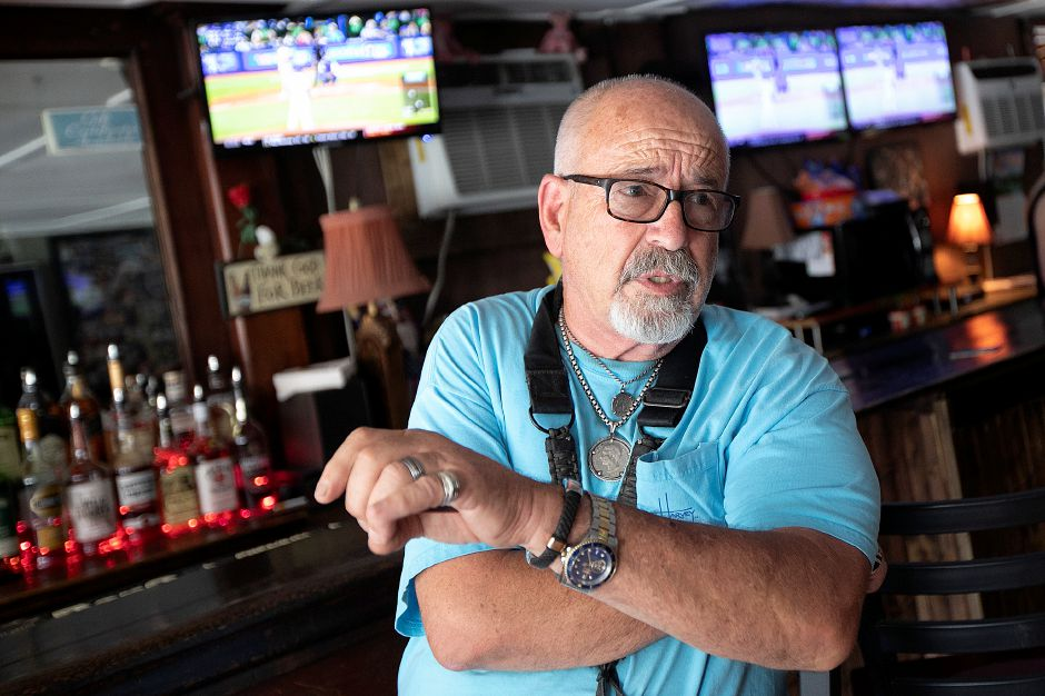 Dino Cavicchioli, a former Meriden resident and longtime patron of City Tavern, talks about the business at 521 Broad St., Meriden, Mon., May 20, 2019. Dave Zajac, Record-Journal