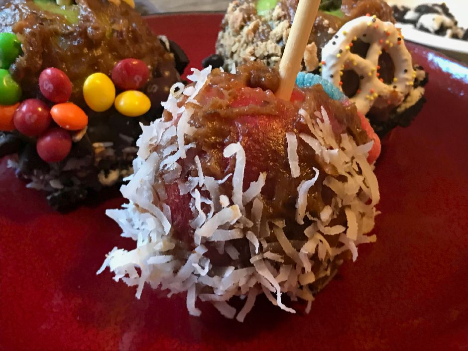 A healthy alternative to traditional candy apples using medjool dates. |Ashley Kus, Record-Journal