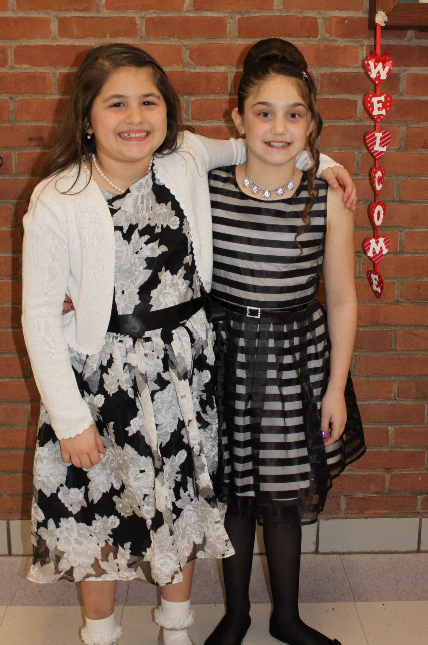 Fourth grade students Lucia Cavaliere and Alyssa Ferriaoulo have attended the annual dance since kindergarten.