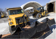 Snow could impact the morning and evening communtes on Thursday. City crews load up trucks with salt at the Public Works Garage on Michael Dr. in Meriden, Friday, January 23, 2015. A winter storm is expected to bring snow and ice to the area on Saturday. | Dave Zajac / Record-Journal