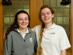 Sophomores Claire Lagarde, left, and Mary Sara Olson have been chosen to represent Sacred Heart Academy at the Hugh O