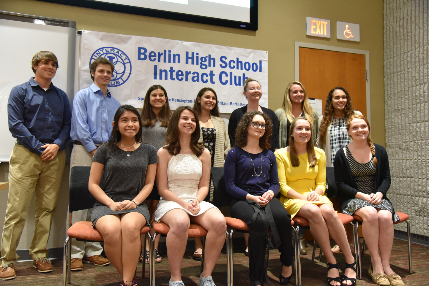 berlin the berlin high school interact club honored student members for. Black Bedroom Furniture Sets. Home Design Ideas
