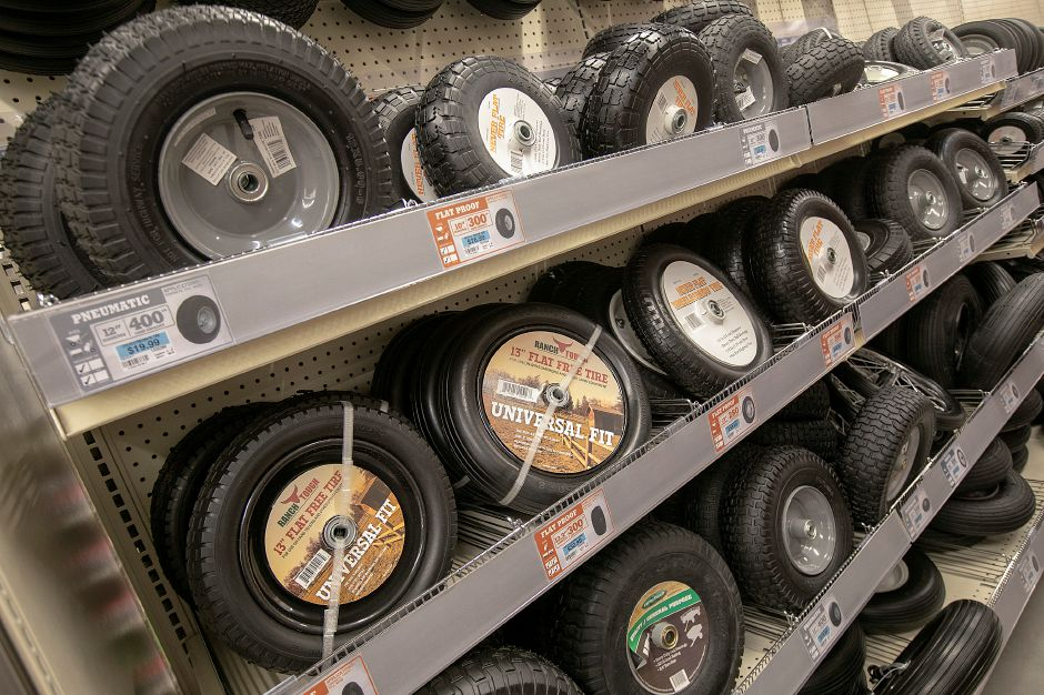 A variety of tractor tires available at the new Tractor Supply Co. at 801 N. Colony Rd. in Wallingford, Mon., Nov. 5, 2018. The business is holding a soft opening this week and will have a grand opening this weekend. Dave Zajac, Record-Journal