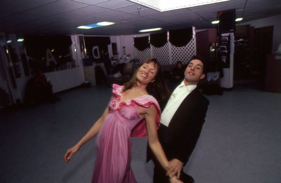 RJ file photo - Ballroom dancers Susan Woods and Alex Scott will perform at the Wallingford Symphony Orchestra concert, Feb. 1994.