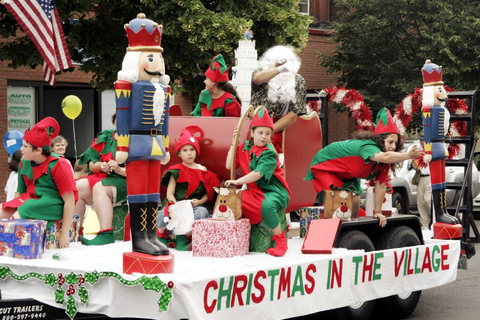 Christmas in the Village float from South Meriden, in the Bicentennial Parade Sat., June 17.