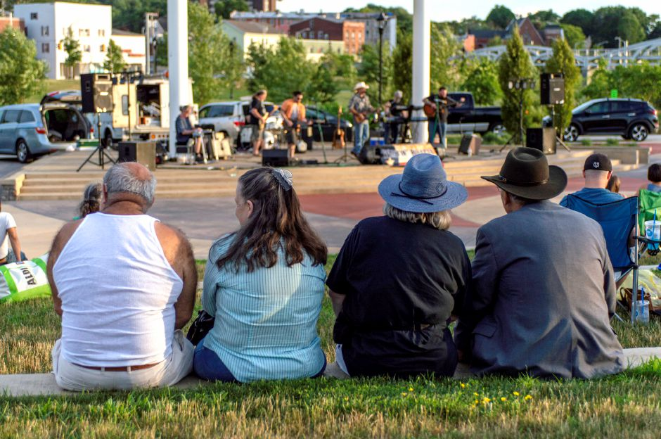 Many Meriden families spent a cool summer evening watching Wastin