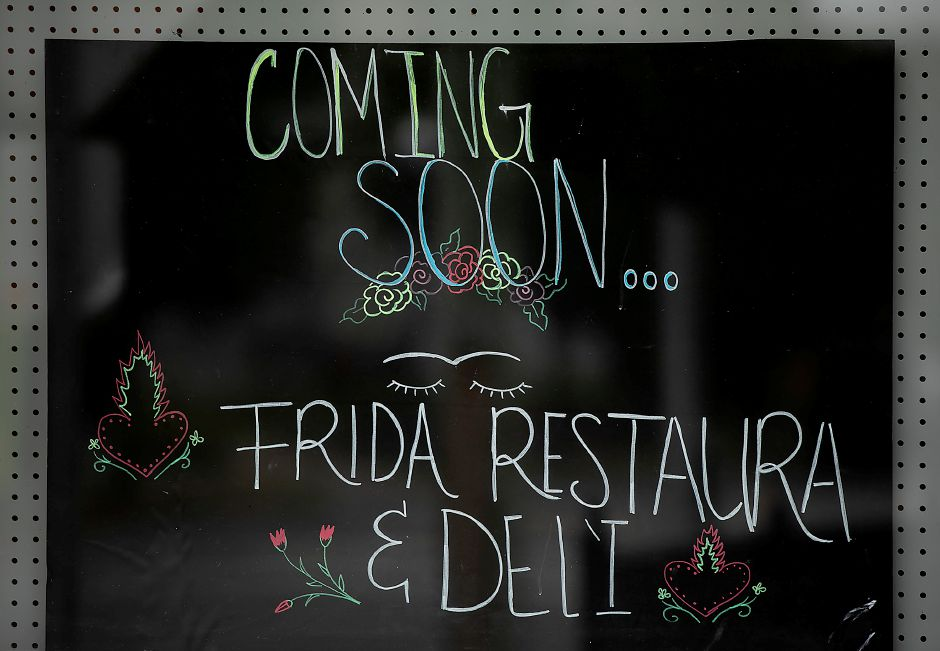 Frida Restaurant and Deli, a new business nearing completion in the former Noiise Sports Bar on Lewis Ave. in Meriden, Tues., Oct. 8, 2019. Dave Zajac, Record-Journal
