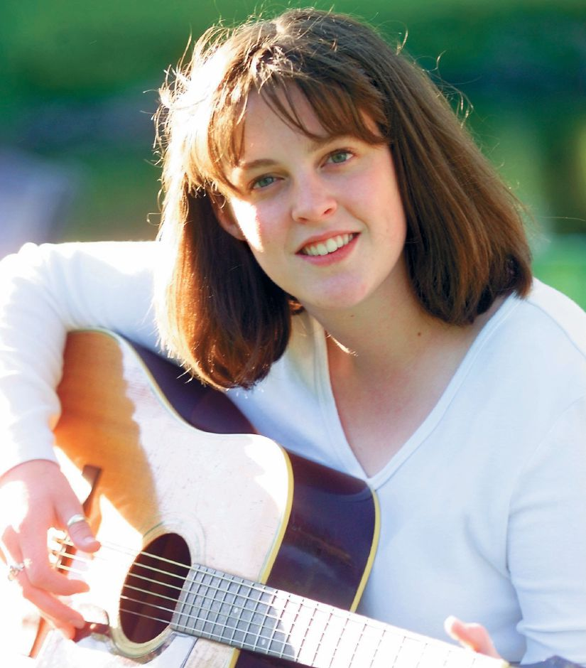 RJ file photo - Kat Roberts of Meriden is now working on a CD, May 1999.