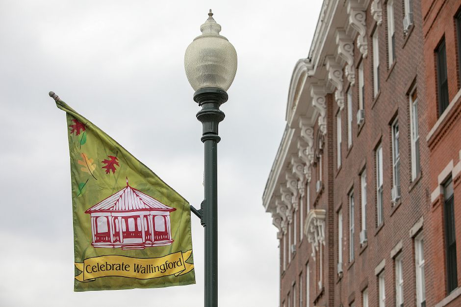 Celebrate Wallingford flags along North Main Street, Monday, Oct. 1, 2018. The 32nd annual Celebrate Wallingford event will feature almost one-third more vendors and will expand to Center Street (Route 150) between Fair Street and North/South Whittlesey Avenue. Dave Zajac, Record-Journal