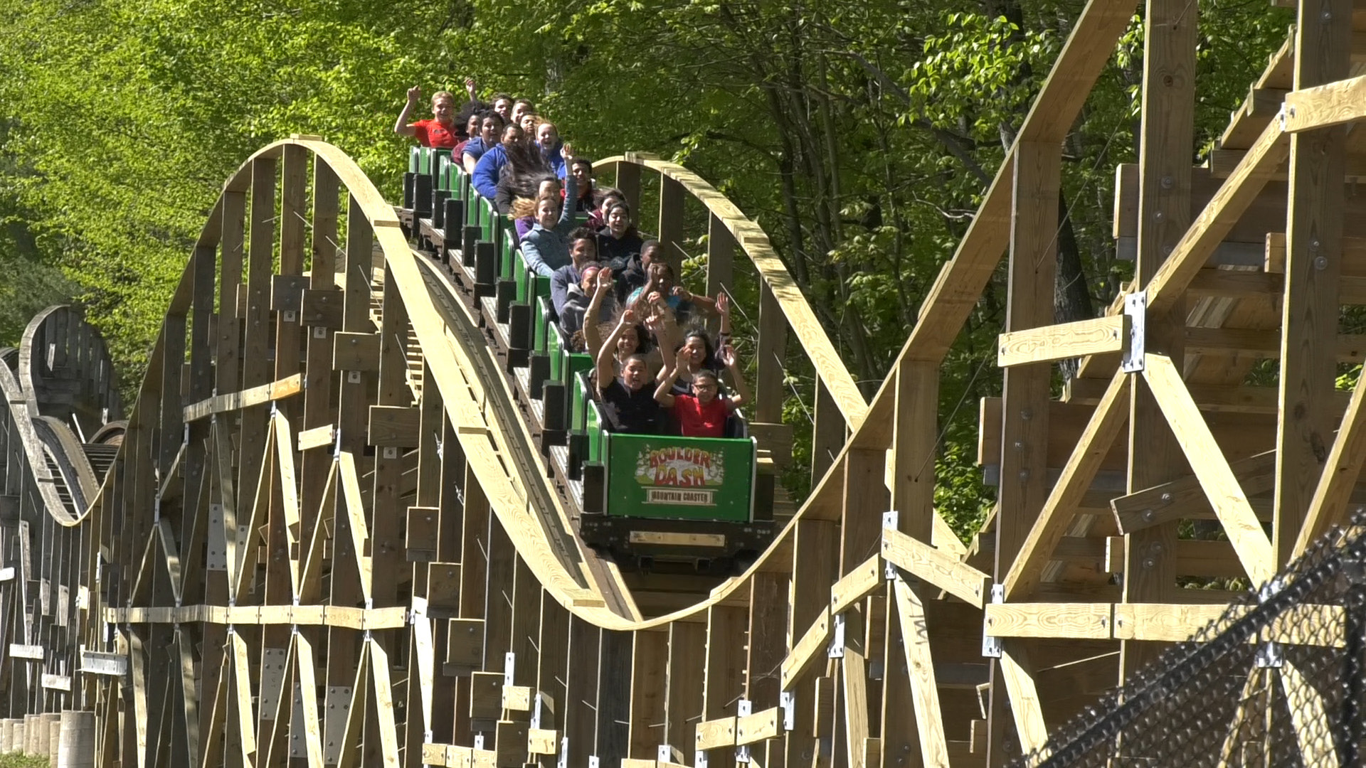 Patrons enjoy Boulder Dash at Lake Compounce on Friday, May 12, 2017. | Pete Paguaga, Record-Journal