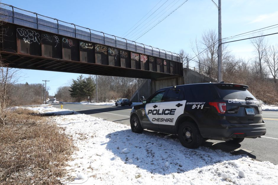 "Police investigated an ""untimely death"" on the Farmington Canal Heritage Trail near West Johnson Avenue on Tuesday 