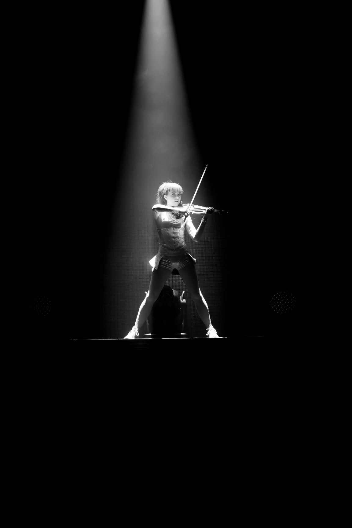 Lindsey Stirling performs at Comerica Theater in Phoenix in August 2015.| Leavitt Wells, Leave it to Leavitt Photography