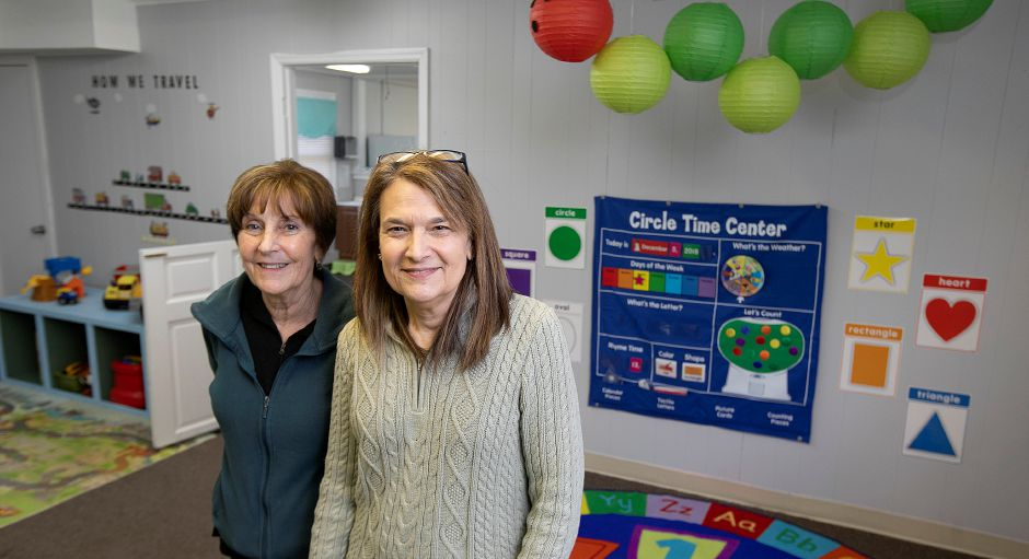 Fran Signore, left, and Debbie Finn, co-owners of Grandma's Cozy Cottage, a new day care center at 210 Main St. in Wallingford, Tues., Dec. 11, 2018. The day care plans to open its doors on January 2nd. Dave Zajac, Record-Journal
