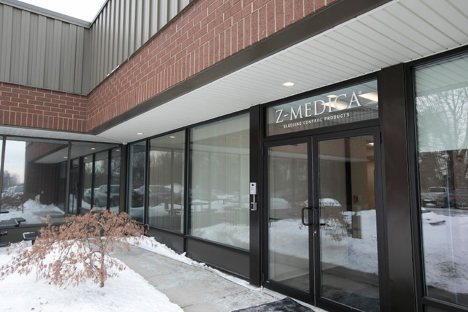 The front entrance of Z-Medica in Wallingford, Monday, Jan. 8, 2018. Dave Zajac, Record-Journal