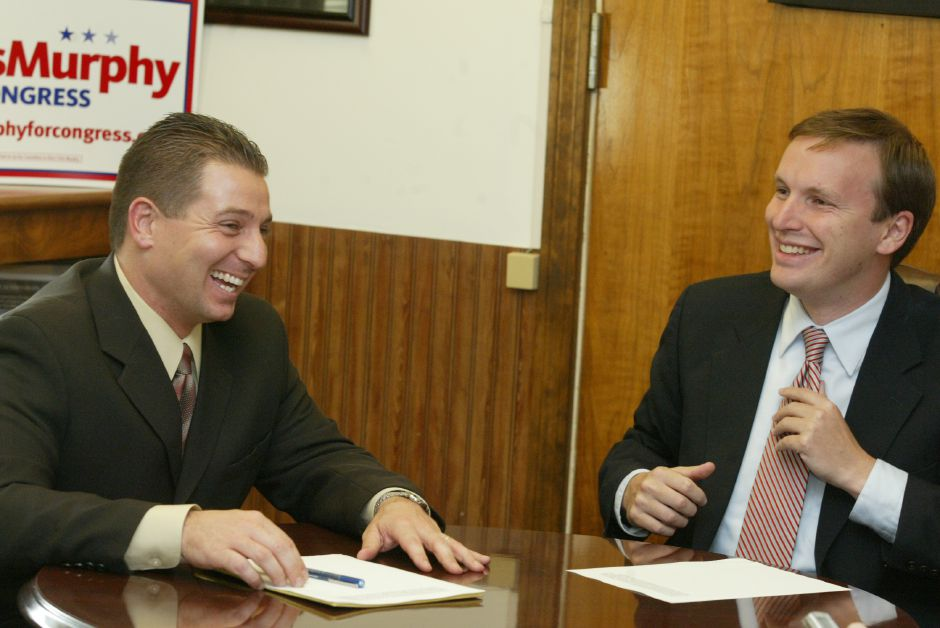 Mayor Mark Benigni and State Rep. Chris Murphy in the mayor