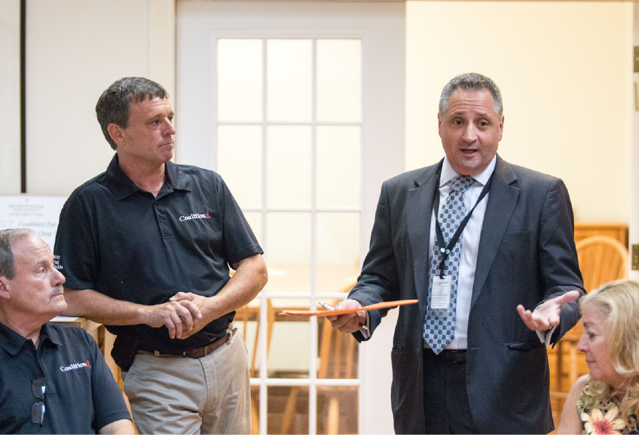 FILE PHOTO: Wallingford Superintendent of Schools Salvatore Menzo, right. | Devin Leith-Yessian/Special to the Record-Journal