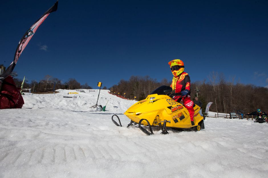 Saturday during the East Coast Snocross race at Mount Southington Ski in Plantsville March 16, 2019 | Justin Weekes / Special to the Record-Journal