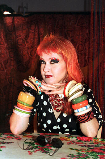 Singer Cyndi Lauper poses at Panavideo Studios in New York City on Aug. 23, 1984.  (AP Photo)
