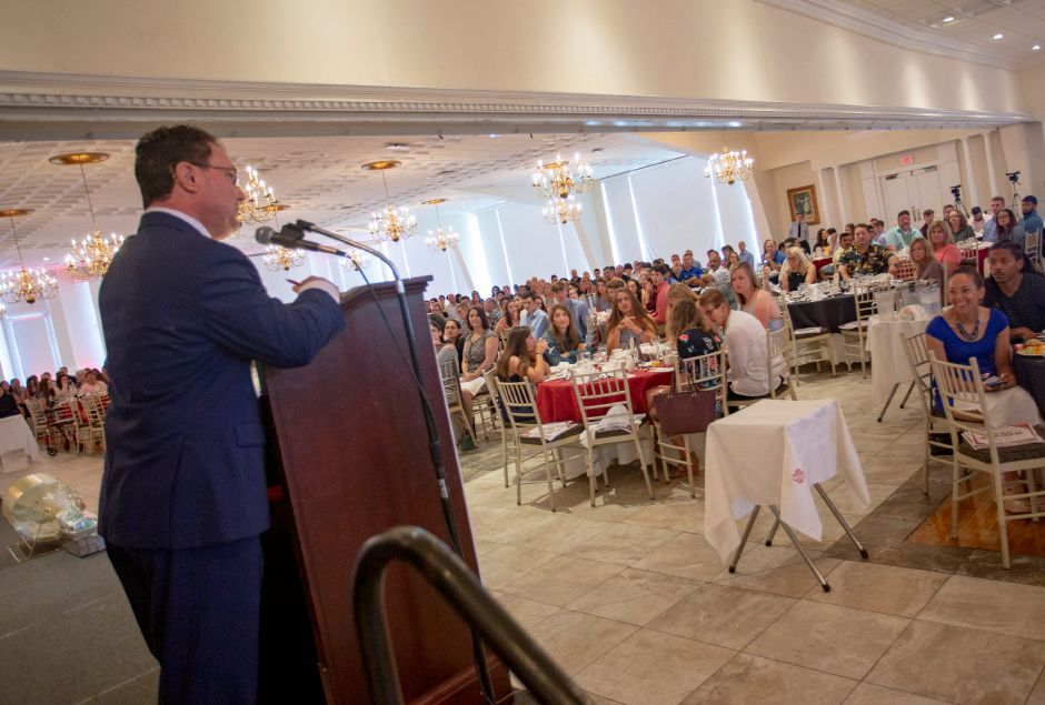 Joe Zone from WFSB emcees the Best of the Bunch Brunch at the Aqua Turf Sunday June 23, 2019. | Richie Rathsack, Record-Journal