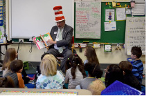 State Rep. William A. Petit, Jr. (R-22) paid a visit to Wheeler Elementary School in Plainville to participate in Read Across America Day on Thursday, March 2. In honor of Dr. Seuss' birthday. Petit joined in the nationwide celebration by reading to the first grade students in Regina McConachie's class.