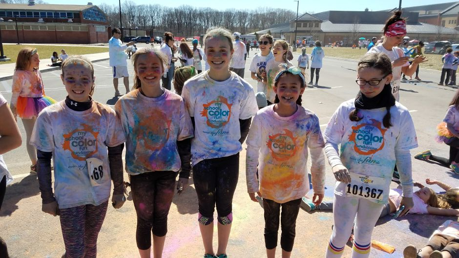Participants at the My School Color Run, held at North Haven High School on April 2, 2017. The community-wide school fundraiser is returning a second year. | Contributed by Stacey O'Connor