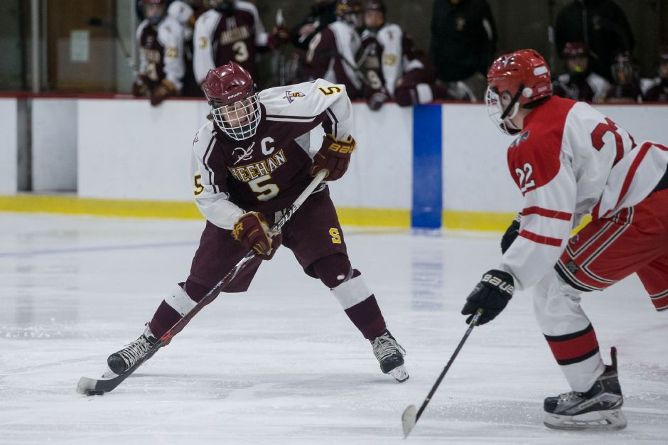 Jake Festa and the Sheehan hockey team has a critical Division III game looming Wednesday against JBWA at Danbury Ice Arena. The Titans are 6-2 and JBWA is 4-2. | Justin Weekes / Special to the Record-Journal