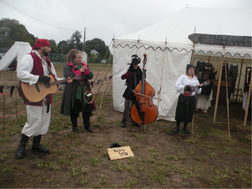 Below the Gaff played Celtic Irish folk music at the Renaissance Faire. | Ken Liebeskind, The North Haven Citizen