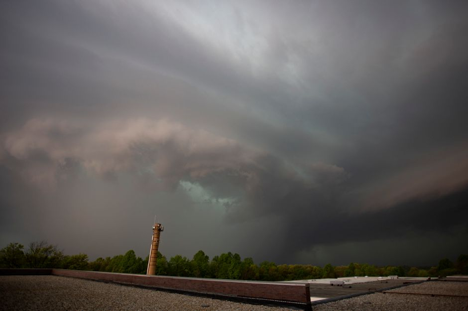 Storm clouds approach Meriden looking west May 15, 2018. | Richie Rathsack, Record-Journal