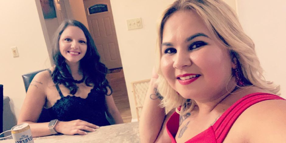 Monica Dominguez, left, with friend Diana Montes (Photo Courtesy of Diana Montes)