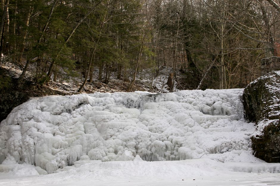 Frozen Wadsworth Falls in Middlefield, Tuesday, Jan. 2, 2018. Dave Zajac, Record-Journal