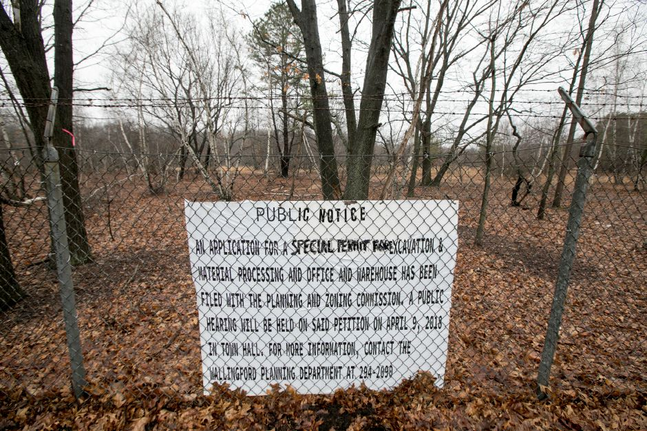 Property south of Allnex off Toelles Rd. in Wallingford, Wednesday, April 4, 2018. A developer has applied for a special permit for excavation and material processing and warehouse on the property. Dave Zajac, Record-Journal