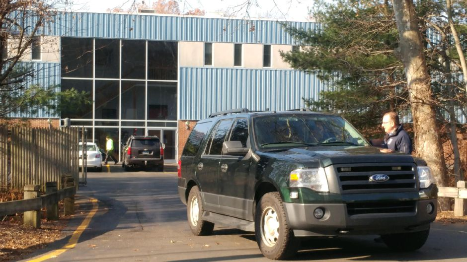 There were no reported injuries in a hazmat situation at Dalton Enterprises in Cheshire on Monday, Dec. 4, 2017. | Devin Leith-Yessian, Record-Journal