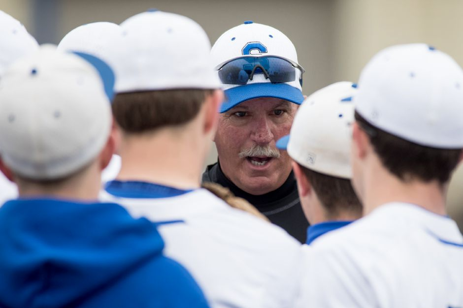 Head coach Charlie Lembo and his Southington baseball team fell to Staples 3-0 in Saturday's Class LL state championship game at Palmer Field in Middletown. | Justin Weekes / Special to the Record-Journal