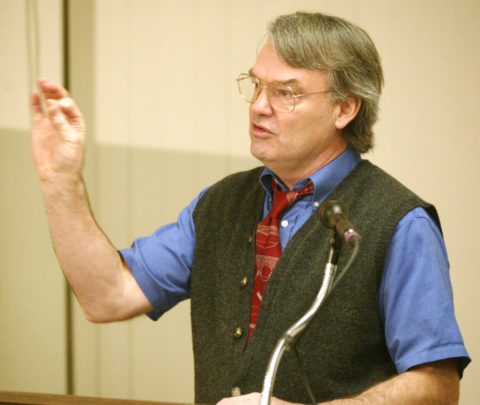 Jim Smith, Exec. Editor, during the R-J round table discussion Wed. night, Jan. 29 in the White Building.