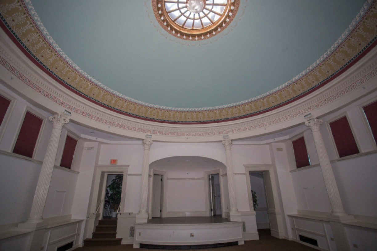 The performance space in the rotunda at the Augusta Curtis Cultural Center March 13, 2017. | Richie Rathsack, Record-Journal
