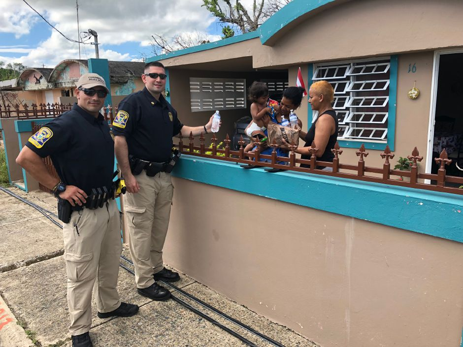 Connecticut State Troopers were deployed to Puerto Rico, including Berlin resident Sgt. Alex Giannone, to help with post-hurricane recovery. |Courtesy of Alex Giannone