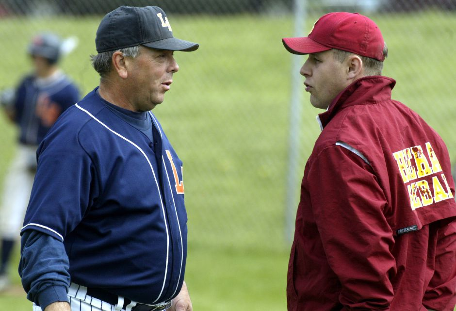 Lyman hall High School baseball coach Chuck Burghardt. May 21, 2002. FILE PHOTO