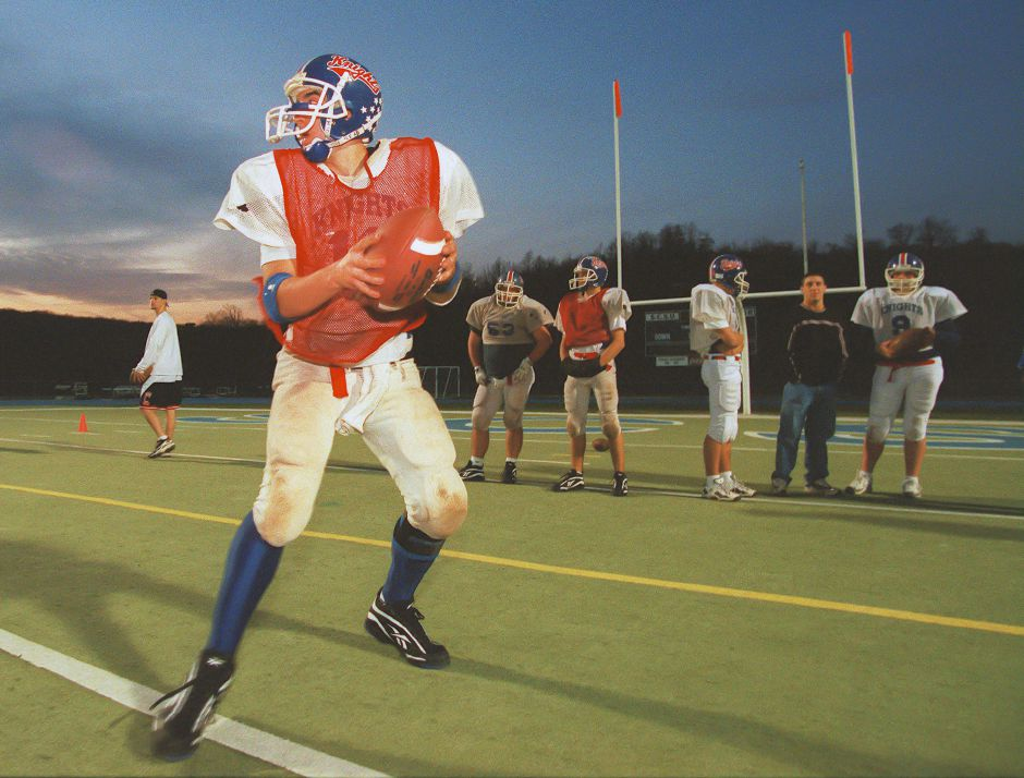 RJ file photo - Quarterback Scott Bard orchestrates Southington