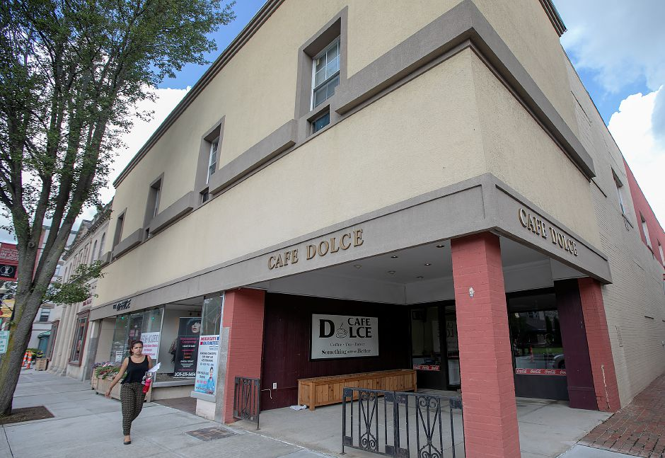 The former Cafe Dolce at 33 W. Main St. in Meriden, Tuesday, July 24, 2018. The owner of Cafe Dolce has closed the doors to the little cafe that serviced employees at the city's police station, courthouse and state office workers on West Main Street. Dave Zajac, Record-Journal