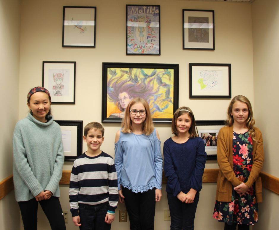 Young artists from Southington, Cheshire and Wallingford, who were winners in state Rep. Liz Linehan