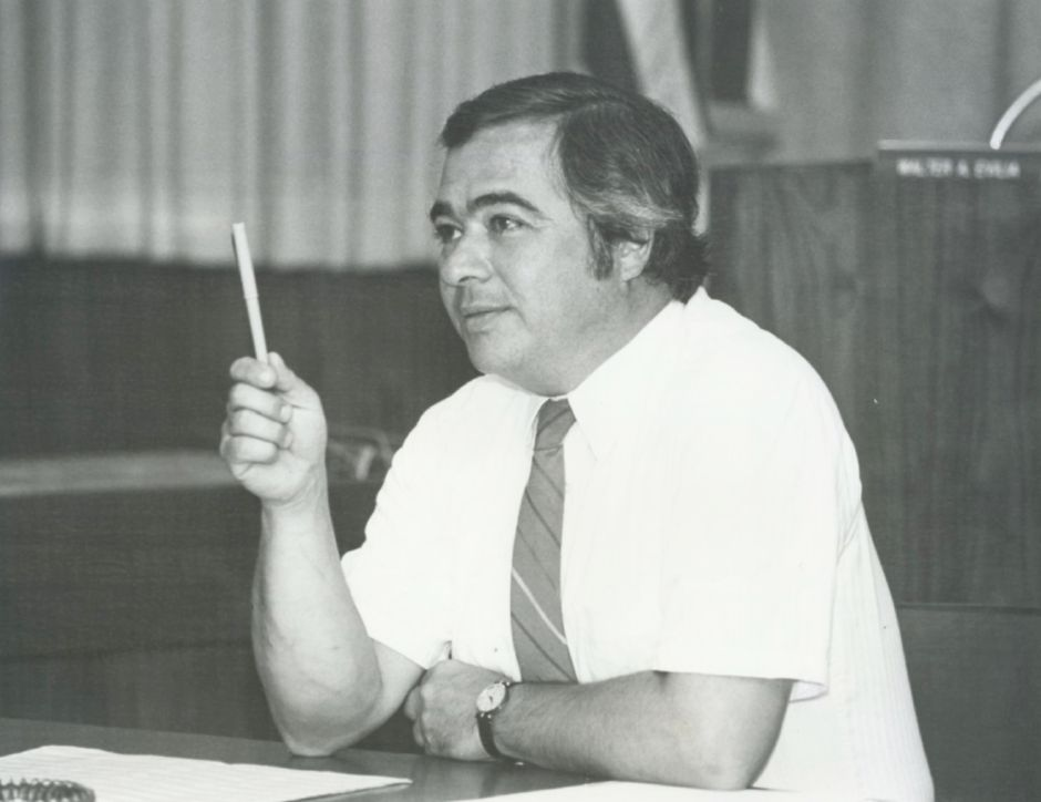 Walter A. Evilia, former mayor of Meriden who died Wednesday, in 1985. File photo, Record-Journal