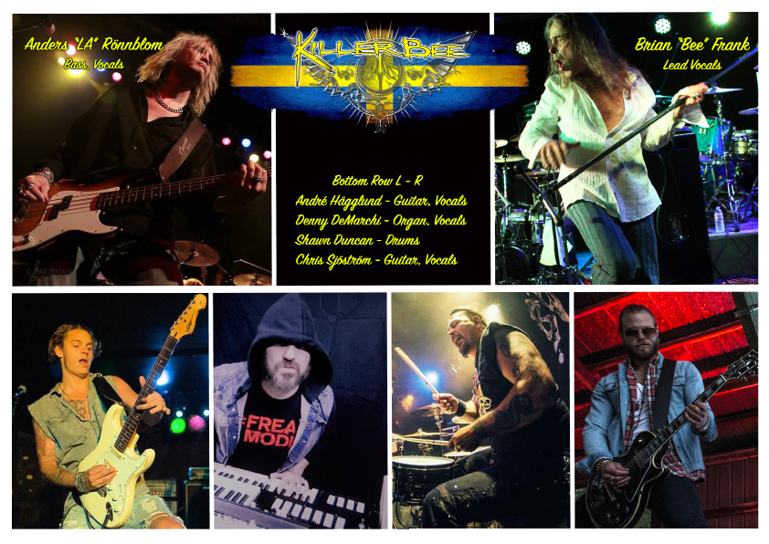Collage of the band Killer Bee. | Photo courtesy of Killer Bee
