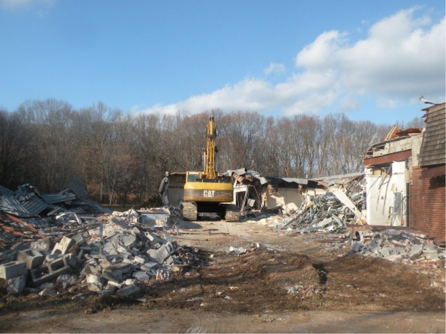 The demolition of Clintonville Manor on Clintonville Road in North Haven began last week. The town hopes to find a new buyer to develop the site into an assisted living facility. | Ken Liebeskind, The North Haven Citizen