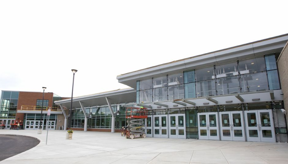 The new front entrance to Maloney High School, Monday, August 29, 2016. | Dave Zajac, Record-Journal