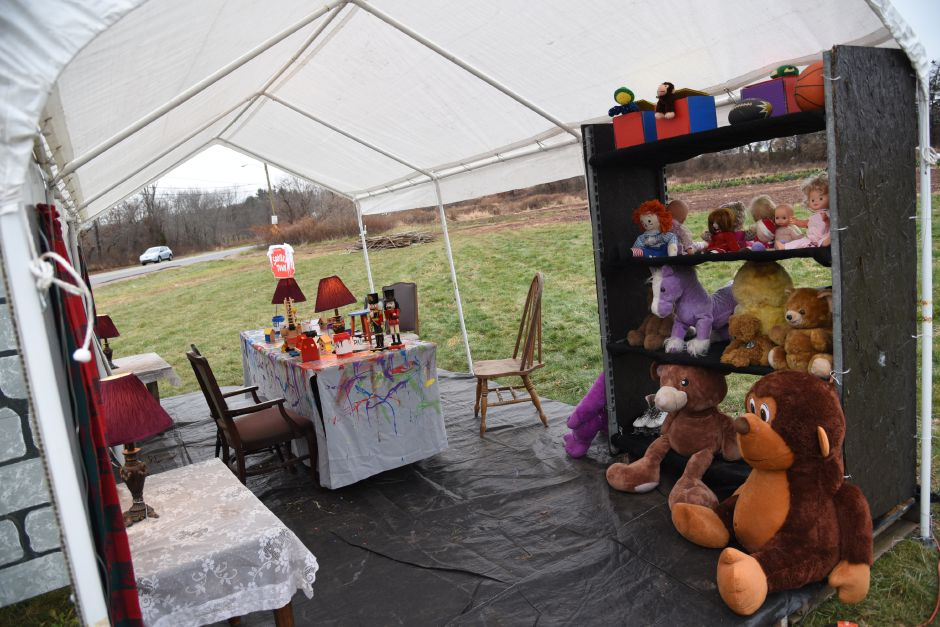 "The annual Christmas display at Beaumont Farms in Wallingford on Friday, Dec. 8, 2017. This year's display pays tribute to the 1970 animated Christmas movie, ""Santa Claus Is Comin' to Town. 